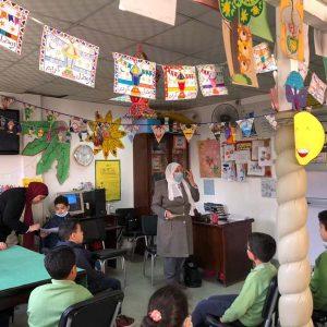 محاضرة للاحتفال بمناسبة حلول شهر رمضان المبارك بالمكتبة القت المحاضرة الاستاذة نادية صلاح مدرس اللغة العربية